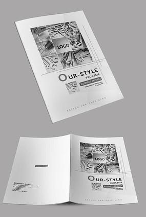 五金零件企业宣传画册封面设计