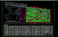 植物园绿化平面设计CAD