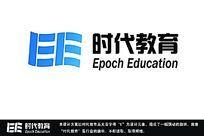 字母E组成的教育行业标志