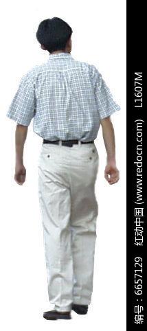 背对的男人图片
