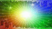 炫彩粒子光芒动感频谱舞台视频