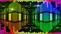 超绚丽频谱空间背景视频