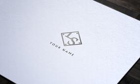 灰色简约服装logo