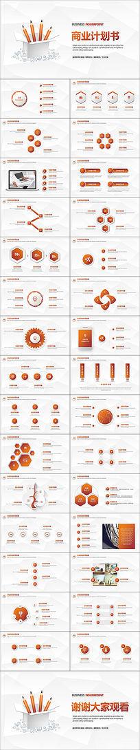 框架完整的金色创业融资商业计划书PPT