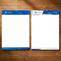 立体空间科技公司信纸设计 AI