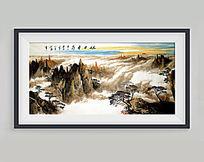 山水风景工笔画装饰画
