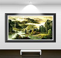 山水风景工笔装饰画