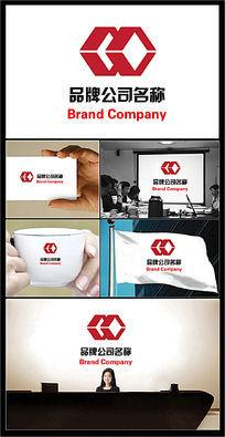 双环透视菱形图案的公司标志