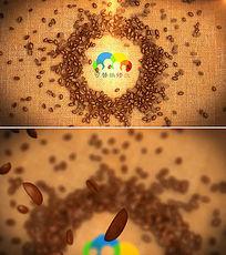 咖啡店logo标志演绎ae模板