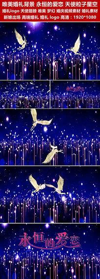 唯美婚礼背景永恒的爱恋天使翅膀粒子星空led视频