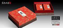 高档红枸杞礼盒包装设计平面图图片