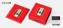 高档枸杞礼盒包装设计平面分层图片素材