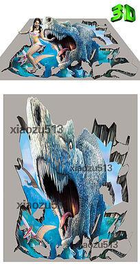 高清恐龙霸王龙3D地板3D立体画