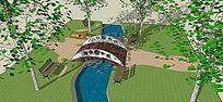公园小桥流水