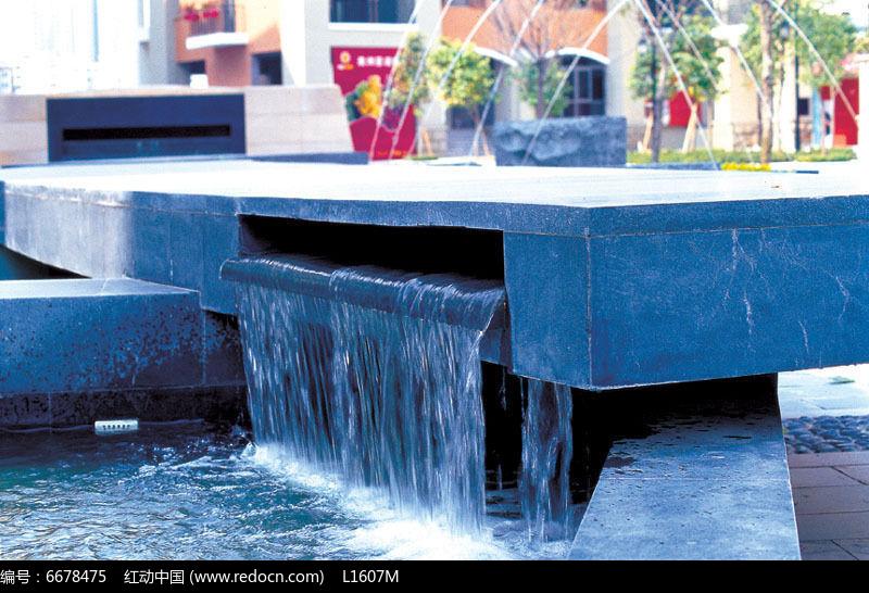 广场跌水水景景观