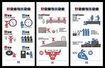 好企业和坏企业企业文化海报挂画 PSD