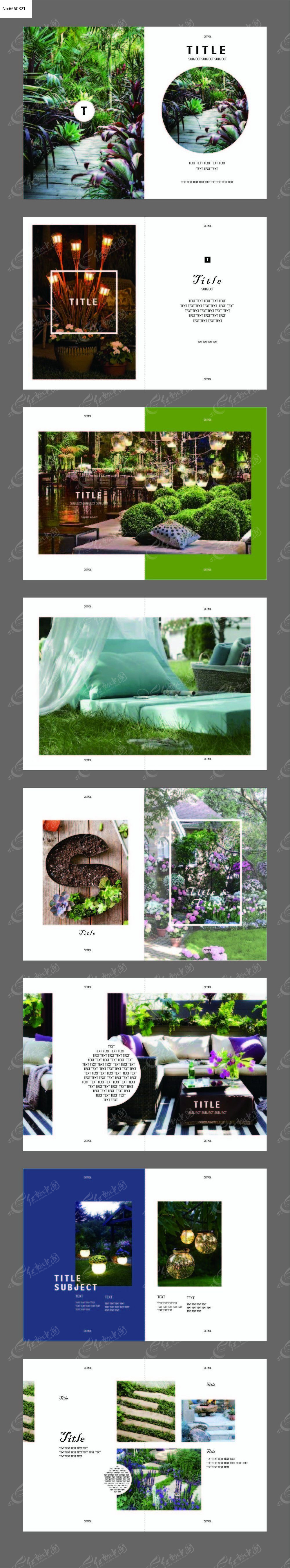 简洁时尚画册版式设计图片