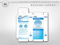 品牌电动牙刷包装设计展开图