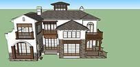 西班牙现代别墅SU模型设计