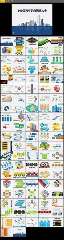PPT动态图表设计模板100页