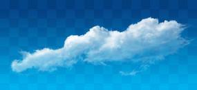 白色的云PS素材分层