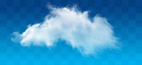 被风吹的白云