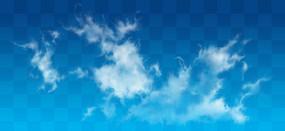 奔腾的云PS素材