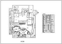 别墅庭院绿化平面图 dwg