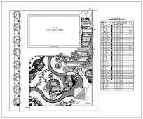 别墅植物配置平面图