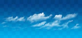 吹散在空中的云