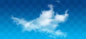 分散的白云