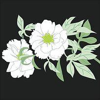 花卉线描设计素材