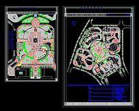 某广场绿化及景观设计图