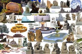 石材雕塑小品素材