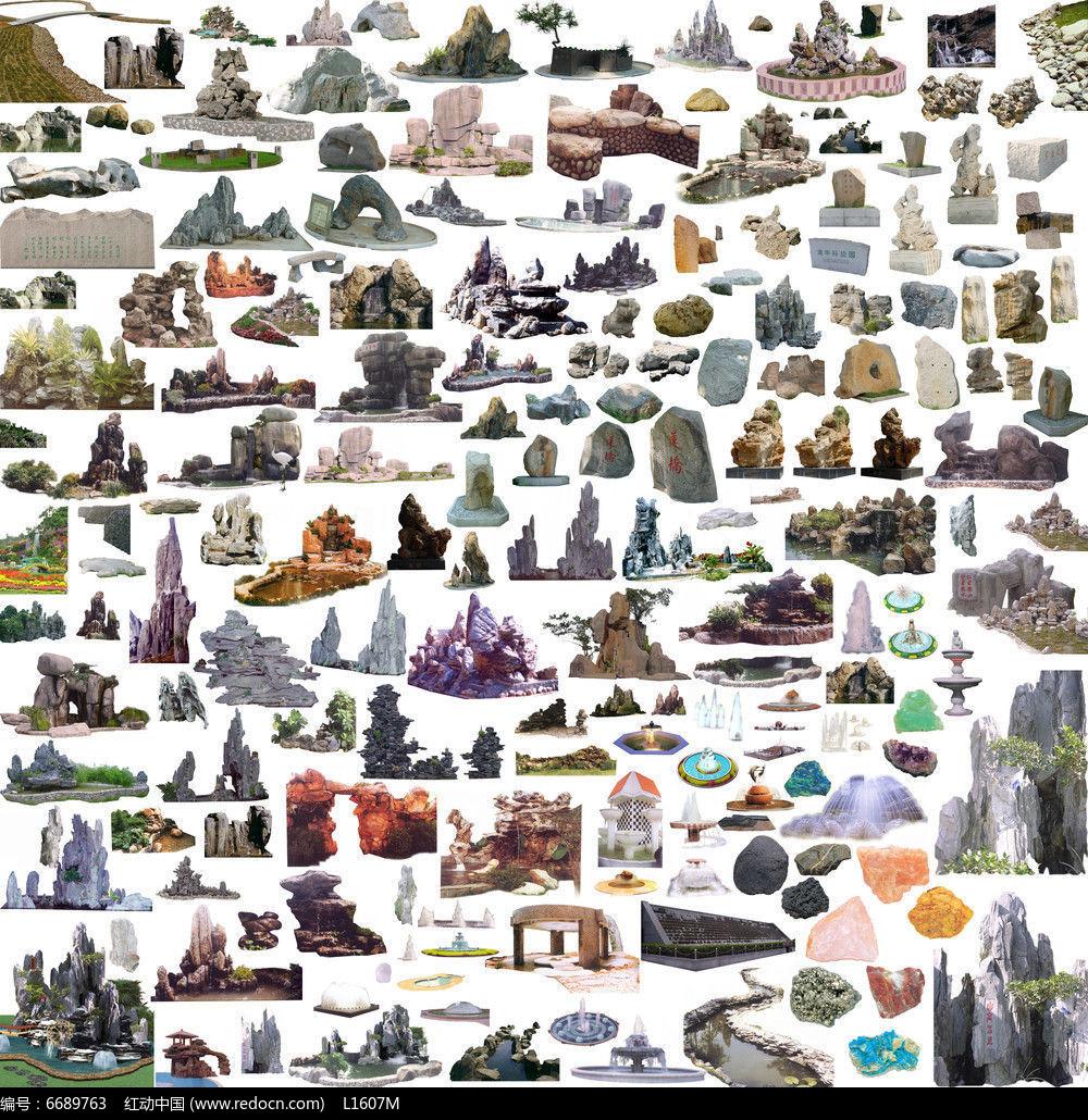 石头设计手绘图片