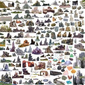 石头小品素材