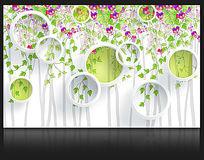 藤蔓时尚背景墙