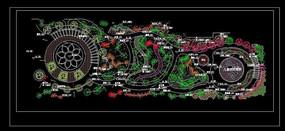 小游园绿化施工图 dwg