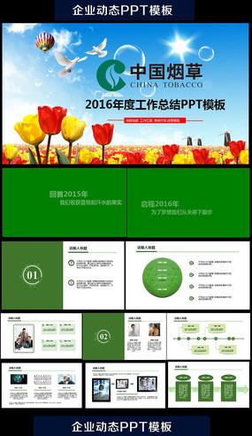 中国烟草总公司动态ppt通用版完整模板