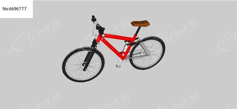 变速山地自行车模型图片