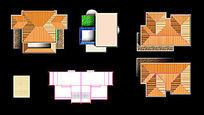 别墅多层屋顶PS素材 PSD