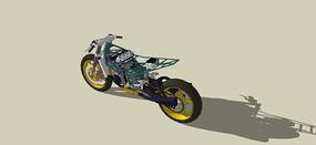 粗犷越野摩托