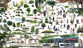 各种样式植物PSD素材