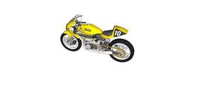 黄色越野赛摩托