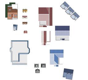 建筑平面PSD素材