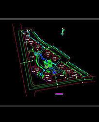 节点小广场平面图布置图