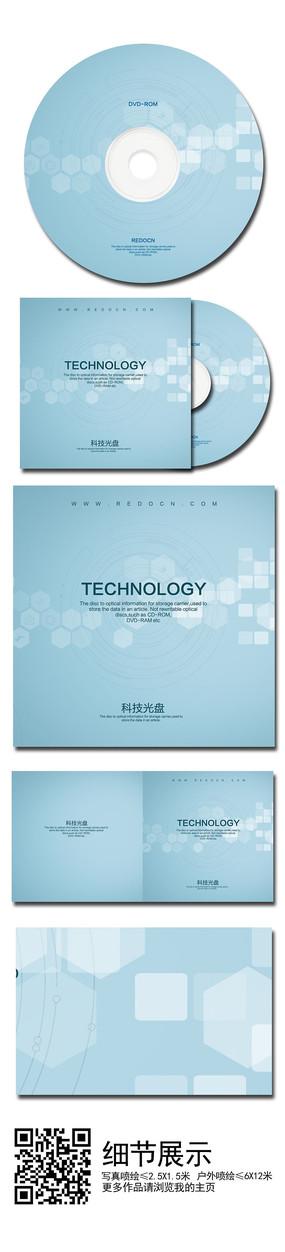 蓝色科技光盘 PSD