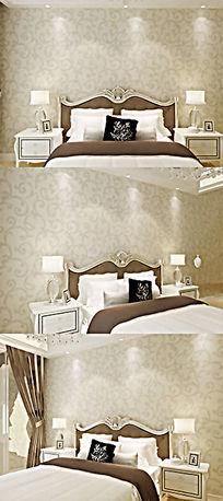 欧式风格卧室场景图