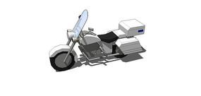送货摩托模型
