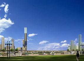 天空城市景观配景素材PSD PSD